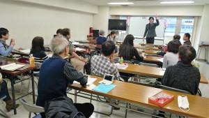 中国留学生講師による中国語教室授業風景