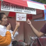 アラビア書道の「シリア」。非常にテクニックが必要とご説明いただきました。